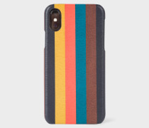 'Bright Stripe' Leather iPhone X Case