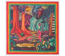 'Dreamer' Print Cotton Pocket Square