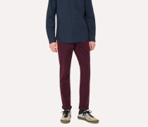 Tapered-Fit Damson Garment-Dyed Stretch-Cotton Chinos