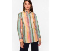 'Artist Stripe' Print Shirt With Glittered Cuff Linings