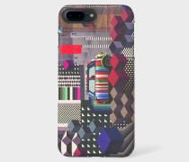 'Geometric Mini' Print Leather iPhone 7 Case