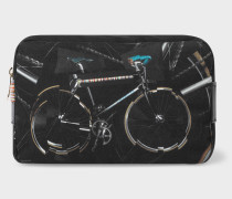 'Paul's Bike' Print Canvas Wash Bag