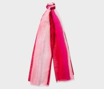 Pink Dip-Dye Linen-Silk Scarf