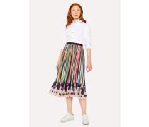 'Expressive Stripe' Pleated Skirt