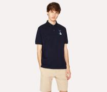 Slim-Fit Navy Cotton-Piqué Polo Shirt With 'Tuna' Print