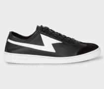 Black 'Ziggy' Calf Leather Trainers