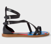 Black Vachetta Leather 'Margie' Sandals