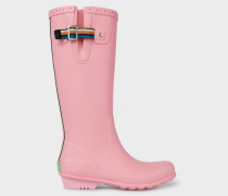 Pink Rubber 'Idella' Wellington Boots