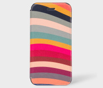 'Swirl' Print Leather iPhone 6/6S/7/8 Wallet Case