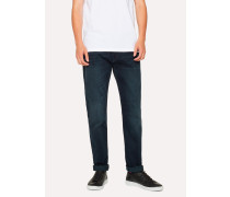 Tapered-Fit 11.8oz 'Super Soft Cross-Hatch' Navy Over-Dye Jeans