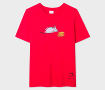 Red 'Year Of The Rat' Print Cotton T-Shirt