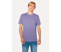 Lilac Organic-Cotton Zebra Logo T-Shirt