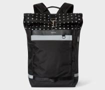Black Reflective Polka Dot Cycling Backpack