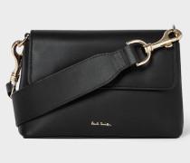 Black Leather Belt Bag With 'Swirl' Trims