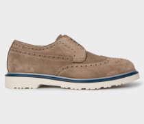 Taupe Suede 'Crispin' Brogues