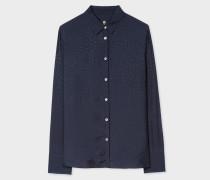 Navy 'Music Note' Jacquard Shirt