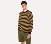 Mustard And Navy Stripe Merino Wool Sweater
