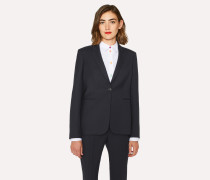 A Suit To Travel In -  Navy One-Button Wool Blazer