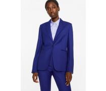 A Suit To Travel In -  Indigo One-Button Wool Blazer