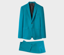 The Kensington - Slim-Fit Turquoise Wool 'A Suit To Travel In'
