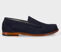 Navy Suede 'Raymond' Loafers