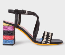 Black Vachetta Leather 'Juliette' Sandals