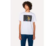 White Organic-Cotton 'Zebra' Print T-Shirt