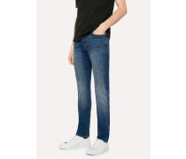 Skinny-Fit 9.5oz Antique-Wash Stretch-Denim Jeans