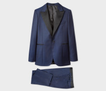 The Soho - Tailored-Fit Blue Micro Check Evening Suit