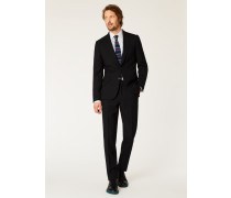 The Soho - Tailored-Fit Black Wool 'A Suit To Travel In'
