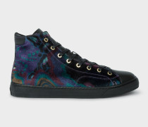 'Dreamer' Print Velvet 'Sirius' High-Top Trainers
