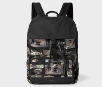 Camouflage 'Paul's Camera' Print Flap Backpack