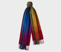 Multi-Coloured Gradient Lambswool Scarf