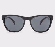 Semi-Matte Onyx and Grey 'Hoban' Sunglasses