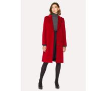 Red Corduroy Cotton-Blend Epsom Coat
