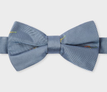 Grey Embroidered 'Sunglasses' Silk Bow Tie