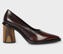 Chocolate Brown Leather 'Mali' Heels