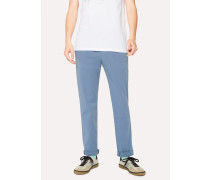 Slim-Fit Slate Blue Stretch Cotton-Twill Chinos