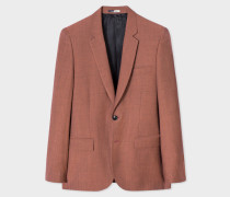 Mid-Fit Light Red Wool-Mohair Blazer