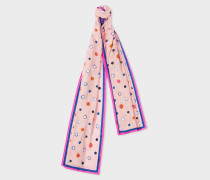 Pink 'Scribble Spot' Print Scarf