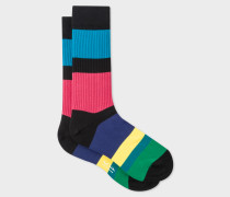 'Cycle Stripe' Ribbed Socks