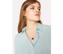 Mint Green Silk-Blend Shirt With Contrasting Cuffs