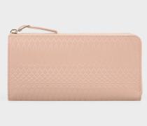 No.9 - Large Powder Pink Leather Zip-Around Purse