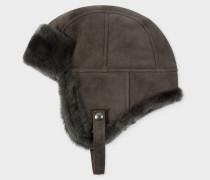 Grey Sheepskin Chapka Hat