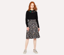 'Jewels' Print Pleated Skirt