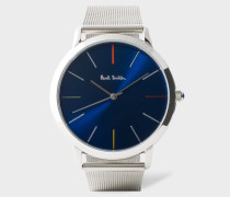 Navy And Stainless Steel 'Ma' Watch