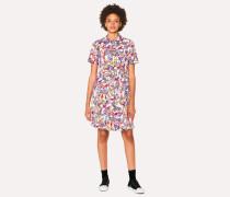 White 'Karami Collage' Print Shirt Dress