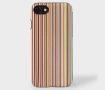 Signature Stripe Leather iPhone 7/8 Case