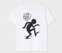 White 'One Way' Print T-Shirt