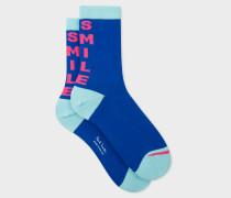 Blue 'Smile' Socks